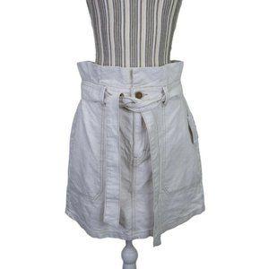 Free People Splendor In The Grass Tie Denim Skirt